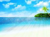 Sea sky landscape — Stock Vector