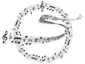 Note music score — Stock Vector