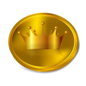 Crown gold crown — Vettoriale Stock
