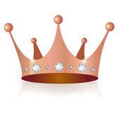 Corona corona di rame — Vettoriale Stock