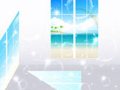 окно номер море — Cтоковый вектор