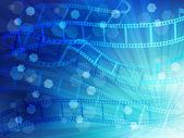 Film negatives landscape — Stock Vector