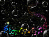 Music note background — Vecteur