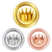 Crown crown medal — Stock Vector