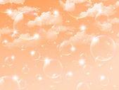 Sky clouds landscape — Stock Vector