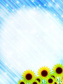 Sunflower sky landscape — Stock Vector