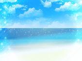 Sea sky landscape — Vector de stock