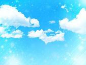 Cielo nuvole paesaggio — Vettoriale Stock