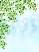 Maple sky landscape — Stock Vector
