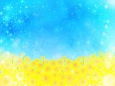 Sunflower sky background — Stock Vector