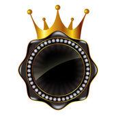 Crown frame medal — Stock Vector