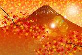 Fuji maple landscape — Stock Vector