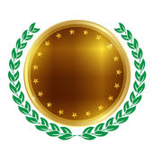 Medal frame Laurel — Vector de stock