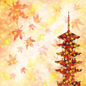 Maple autumn leaves Japan — Stock Vector