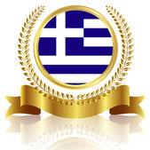 Greece flag frame — Stock Vector