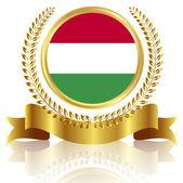 Hungary national flag frame — Stock Vector