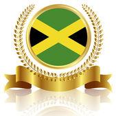 Jamaica national flag frame — Stock Vector