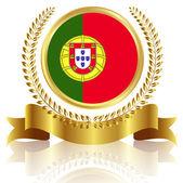 Portugal national flag frame — Stock Vector