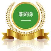 Saudi Arabia flag frame — Stock Vector