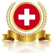 Swiss flag frame — Stock Vector
