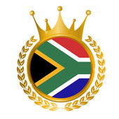 South Africa national flag frame — Stock Vector