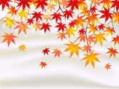 Maple autumn leaves background — Stock Vector