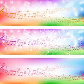 фоновая музыка примечание — Cтоковый вектор