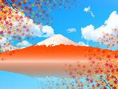 Fuji maple background — Stock Vector
