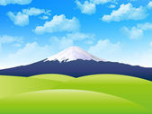 Fuji sky background — Stock Vector