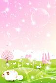 Sheep greeting cards background — Wektor stockowy