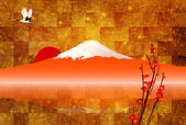 Fuji greeting cards background — Stock Vector