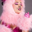 Sexy Woman in Cat Costume — Foto Stock #11992314