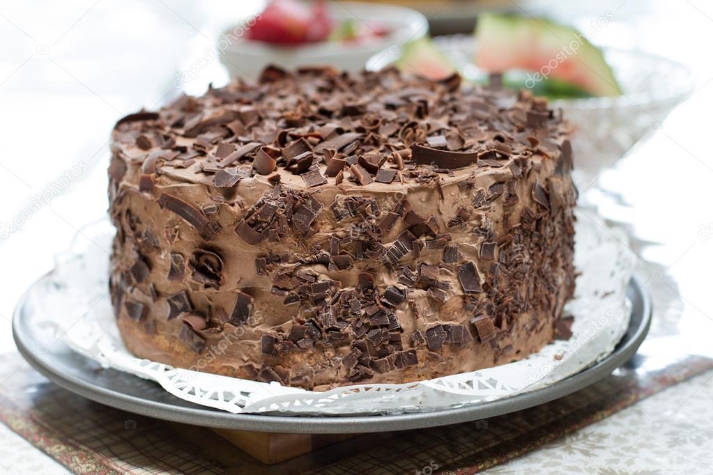 Stock Photo Homemade Chocolate Cake
