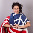 Peaceful Patriotic Woman — Stock Photo