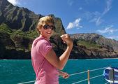 Navegando el napali coast kauai — Foto de Stock