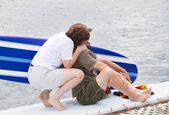Couple in Paradise — Zdjęcie stockowe