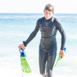Teenager emerging from the Ocean — Stock Photo