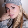 Beautiful Camouflage woman - Stock Photo