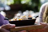 Apple Cobbler fresh baked — Stock Photo
