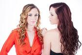 красивые сестры-близнецы — Стоковое фото