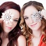 Beautiful Sisters in winter — Stock Photo