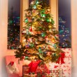 Christmas tree with soft white framing — Stock Photo