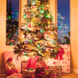 Christmas tree in the morning — Stock Photo #14080196