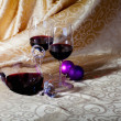 Wine and Christmas — Stock Photo