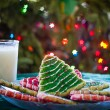 Milk and Christmas Cookies — Stock Photo #16234551
