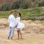 Happy Couple in Paradise — Stock Photo