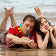 Bored Couple in Paradise — Stock Photo #17612033