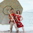 Stock Photo: Newlyweds in Hawaii