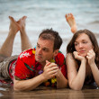 Troubled Couple in Paradise — Stock Photo