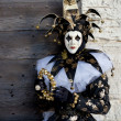 Pretty Jester in Venice Italy — Stock Photo